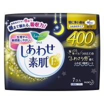 花王 乐而雅 F柔软护翼衛生巾 特多量夜用 7片 40cm  16包/箱