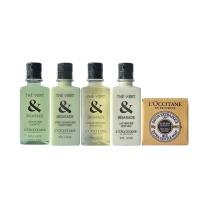 欧舒丹 格拉斯绿茶5件旅行套装(洗发护发沐浴润肤香皂) 50mlx5  (附礼盒)