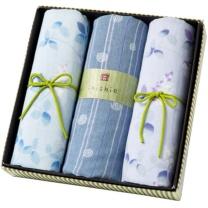 内野 UCHINO 和风系列面巾 Y15321-N 3条装礼盒