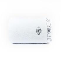 洁丽雅 grace 纯棉绣花浴巾 8709 140*70cm 380g (白色)