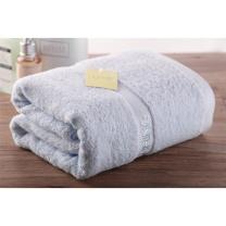 内野 UCHINO OPP袋装素色绣字纯棉浴巾 140*71cm 360g (混色(粉色、蓝色))