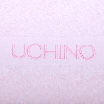 内野 UCHINO 素色绣字毛巾 UUH02789D 80*34cm 90g  12条/箱