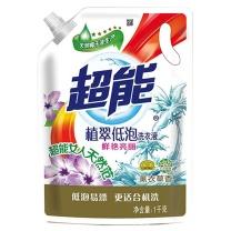 超能 植翠洗衣液(鲜艳亮丽) 1KG/袋