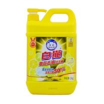 白猫 WhiteCat 去油高效洗洁精 2kg/瓶  8瓶/箱