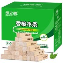 绿之源 天然香樟木条樟木球块片 30条装