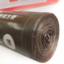 奇正 彩色垃圾袋 60cm*80cm (咖啡色) 15只/卷 50卷/箱 1.3丝 湿垃圾