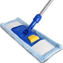 世家 快洁能手平板拖把 送替换头 20200 45cm宽 (蓝色)