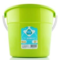 茶花 CHAHUA 塑料水桶 0207 12.2L  默认绿色款