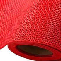 妙耐思 B级S型镂空地垫 15m*0.9m (红色)