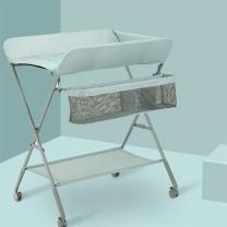史威比 婴儿可折叠换尿布架  带轮子+可升降高度