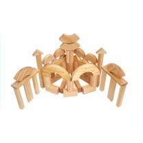 可爱号 实心大型积木大木块实木原色积木幼儿园建构积木益智儿童早教玩具