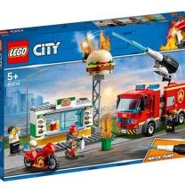 乐高 LEGO 汉堡店消防救援积木