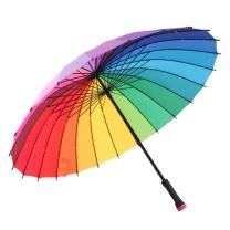 美度 彩虹两用手动开长柄晴雨伞 M5002 24骨 58.5*24K (颜色随机)
