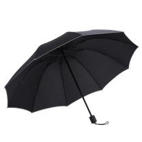 美度 加大版男士商务三折晴雨伞 M3327 10骨 63.5*10K (颜色随机)