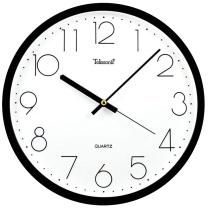 天王星 Telesonic 圆形挂钟 SH951B-12 12英寸 30.5cm (黑色)