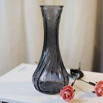 墨斗鱼 玻璃小花瓶 0871 (烟灰色)