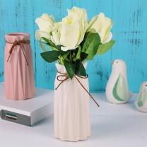 墨斗鱼 陶瓷花瓶 8007 (哑光白色)