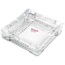 得力 deli 办公居家玻璃方形烟灰缸/茶几摆件 办公用品 180*180mm 9580