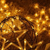 绿之源 星星灯串插电款 2.5米12个 (暖白色)