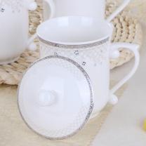 敏杨 陶瓷茶杯 网路情缘7号 口径8.5cm高14cm 390ml  (10个起订)