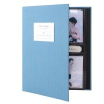得力 deli 插页式可标记相册簿 65350 5寸 (蓝色) 320张/本