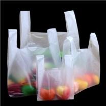 优大叔 厚白色透明塑料打包袋食品袋 4.5丝(50只) 大号 35*53cm