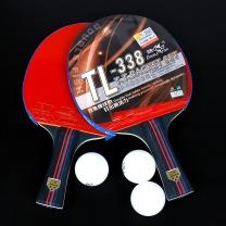 双鱼 三星级乒乓球拍横拍套装 TL-338 2支装