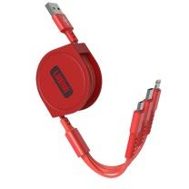 乐默 乐享伸缩一拖三充电线 LCB-153 产品尺寸:150cm  1000条起订