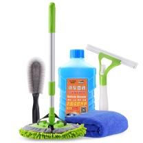 车旅伴 洗车套装 HQ-QX110 5件套 洗车毛巾30*70cm+洗车液500ml+轮毂刷+刮水板