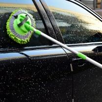 车旅伴 雪尼尔铝杆可伸缩洗车刷 HQ-QX025 刷头:29*21cm 伸长前65cm 伸长后:120cm  2个/组
