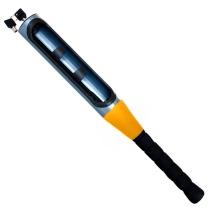 四万公里 方向盘锁 汽车锁防盗锁具 双卡棒球造型锁 防身安全锁 橙色 SWY2004
