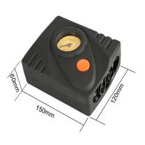 途马(TOURMAX)车载快充充气泵 12V大功率便携式胎压检测轮胎打气机 电动摩托车 胎压表计安全充气 D02B