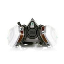 3M 防毒面具 620P  防毒有机蒸气防护面罩(7件套半面具6200*1滤毒盒6001cn*2滤棉5n11*2滤棉盖501*2)
