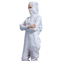 翰洋洁净 网格防静电衣服百级无尘服连体带口罩工作服XL XL
