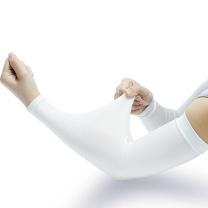 安赛瑞 防晒袖套冰丝防晒袖套 夏季户外作业防晒袖套 防暑降温防晒套袖 11166 2双装 (白色)