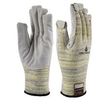代尔塔 DEITAPLUS 牛皮加强掌面防割耐高温手套 202012 VECUT5009 (灰色)