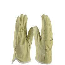代尔塔 204159 猪皮短款加厚耐高温耐磨 电焊手套 单位:付