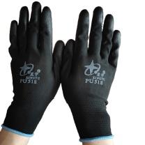 星宇 pu涂层尼龙手套 518 M码 (黑色) 12副/打 (黑色)