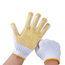 洁安康 点塑本白纱手套 600g/打  12副/打 (新老包装交替以实物为准)