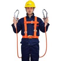 哥尔姆 高空作业安全带 双大钩1.8米 防坠落围杆单腰带 TB-4