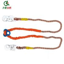 齐鲁安然 双控保险绳 电力腰带安全带 爬杆配件 双板勾  (绳长2米)