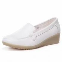 平底防滑白色护士鞋