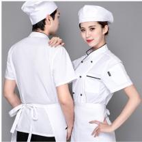 名品天成 厨师衣服 M L XL 2XL 3XL 5XL 4XL (随机) 棉
