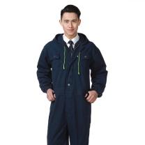 国产加厚纯棉连体工作服 XL (牛仔蓝)
