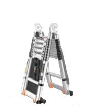 镁多力 伸缩梯子人字梯铝合金多功能【加强】 无 4.1+4.1=直梯8.2米