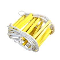 朗固 软梯 C21516003 (黄) 尼龙绳Φ18;方型横档管;Φ5 mm镀锌绳穿芯,耐用型