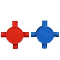 睿月 电线套管四通 D16 (红色)