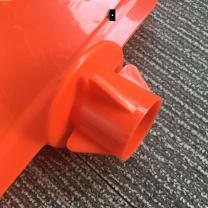 安赛瑞 PVC材质四面告示牌(小心地滑 14014 高95cm (黄黑红)