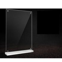 安赛瑞 强磁亚克力T型台牌(A4竖款) 12702 2个装 21×29.7cm 透明亚克力材质 (透明)