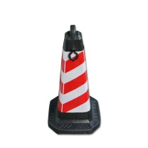 安赛瑞 方尖反光路锥 11207-6 70×38×38cm (红白) 6个装